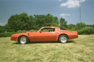 Side view of my 1976 Pontiac Trans Am
